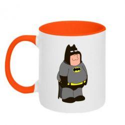 Кружка двухцветная Питер Гриффин Бэтмен - FatLine