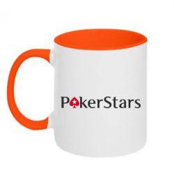 Кружка двухцветная Покер Старс - FatLine