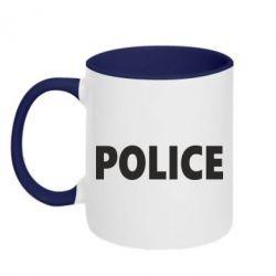 Кружка двухцветная POLICE - FatLine