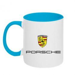 Кружка двухцветная Porsche - FatLine