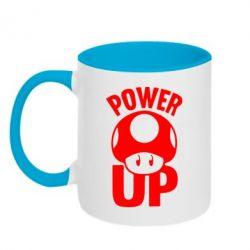 Кружка двухцветная 320ml Power Up гриб Марио