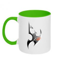 Кружка двухцветная Protoss Symbol - FatLine