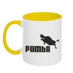 Кружка двоколірна 320ml Pumba