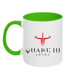 Кружка двухцветная Quake 3 Arena - FatLine