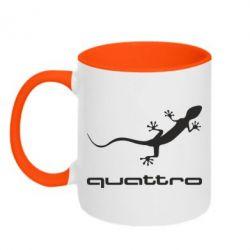 Кружка двухцветная Quattro - FatLine
