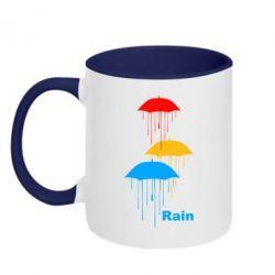 Кружка двухцветная Rain - FatLine