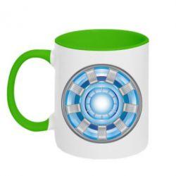 Кружка двухцветная Реактор Тони Старка - FatLine