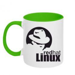 Кружка двухцветная Redhat Linux - FatLine
