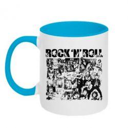 Кружка двухцветная ROCK N ROLL