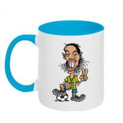 Кружка двухцветная Ronaldinho - FatLine