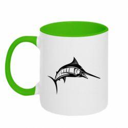Кружка двухцветная Рыба Марлин - FatLine