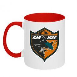 Кружка двухцветная San Jose Sharks - FatLine