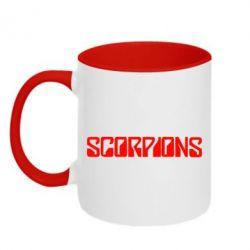 Кружка двухцветная Scorpions - FatLine