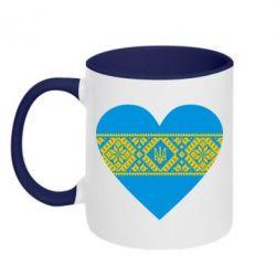 Кружка двухцветная Серце України - FatLine