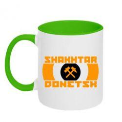 Кружка двухцветная Shakhtar Donetsk - FatLine