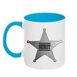Кружка двухцветная Sheriff - FatLine