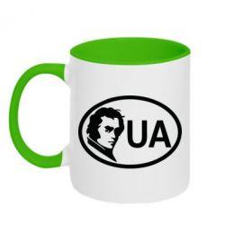 Кружка двухцветная Shevchenko UA - FatLine