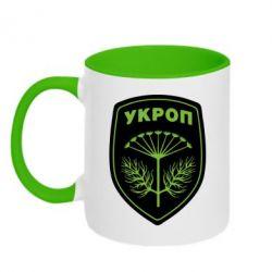 Кружка двухцветная 320ml Шеврон Укропа