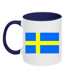 Кружка двухцветная Швеция - FatLine