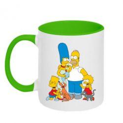 Кружка двухцветная Simpsons Family - FatLine