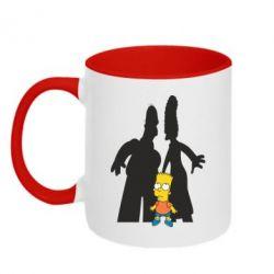 Кружка двухцветная Simpsons - FatLine