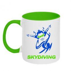 Кружка двухцветная Skidiving - FatLine