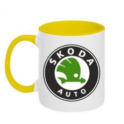 Кружка двухцветная Skoda Auto - FatLine