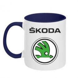 Кружка двухцветная Skoda - FatLine
