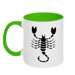 Кружка двухцветная скорпион - FatLine