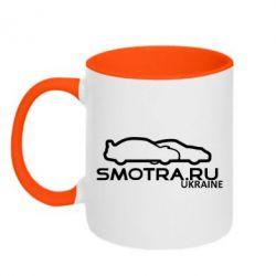 Кружка двухцветная Smotra UA - FatLine