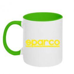 Кружка двухцветная 320ml Sparco