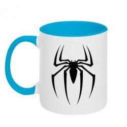 Кружка двухцветная Spider Man Logo - FatLine