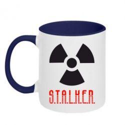 Кружка двухцветная 320ml Stalker