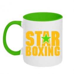 Кружка двухцветная Star Boxing - FatLine