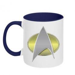 Кружка двухцветная Star Trek Gold Logo - FatLine