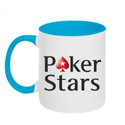 Кружка двухцветная Stars of Poker - FatLine