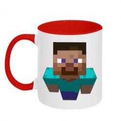 Кружка двухцветная 320ml Steve from Minecraft