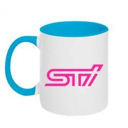 Кружка двухцветная STI Logo - FatLine