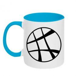 Кружка двухцветная 320ml Strange Logo