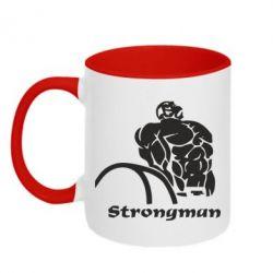 Кружка двухцветная Strongman - FatLine