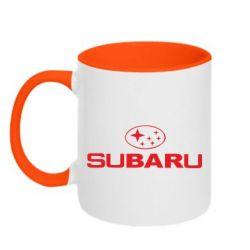 Кружка двухцветная Subaru - FatLine