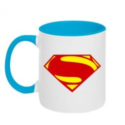 Кружка двухцветная Superman Человек из стали - FatLine