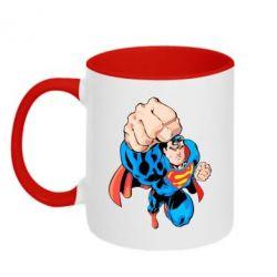 Кружка двухцветная Супермен Комикс - FatLine