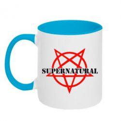 Кружка двухцветная 320ml Supernatural