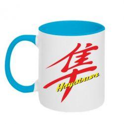Кружка двухцветная Suzuki Hayabusa - FatLine