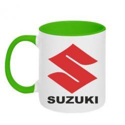 Кружка двухцветная Suzuki - FatLine