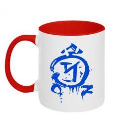 Кружка двухцветная Сверхъестественное логотип - FatLine