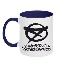 Кружка двухцветная Tankograd Underground Logo - FatLine