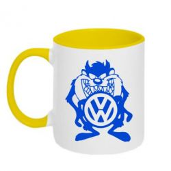 Кружка двухцветная Тасманский дьявол Volkswagen - FatLine
