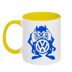 Кружка двоколірна 320ml Тасманійський диявол Volkswagen